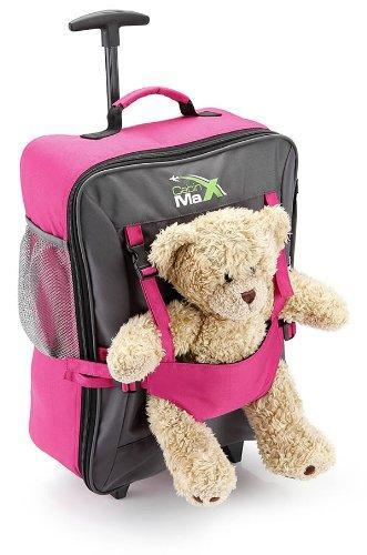 Cabin Max Bear Childrens Luggage trolley suitcase - Pink - WWW ...